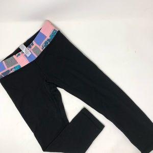 Lululemon Ivivva Black Reversible Legging Pant 12